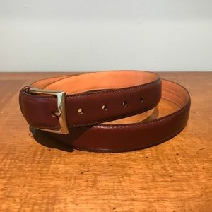 Martin Dingman Calfskin Dress Belt Size 42 NEW!
